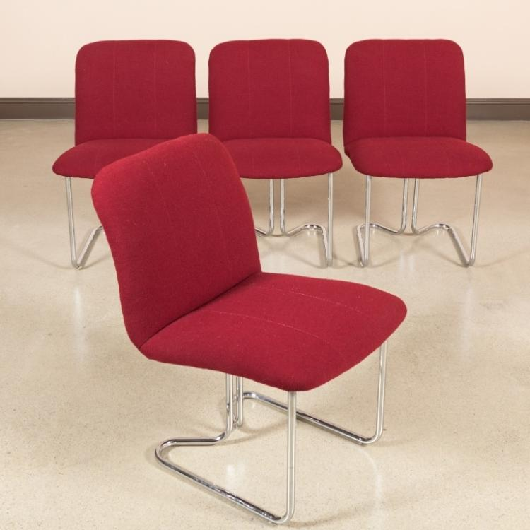 Four Design Institute of America Chrome Chairs