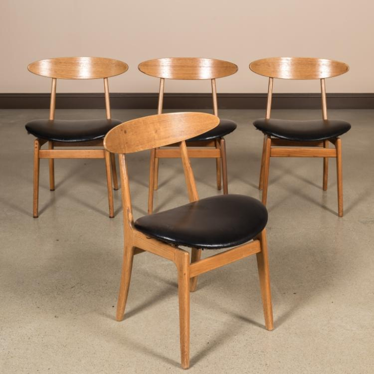 Four Danish Teak Kitchen Chairs