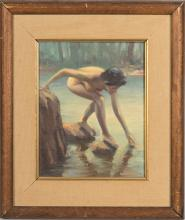 Charles Diletto - Oil on Artist Board - Signed