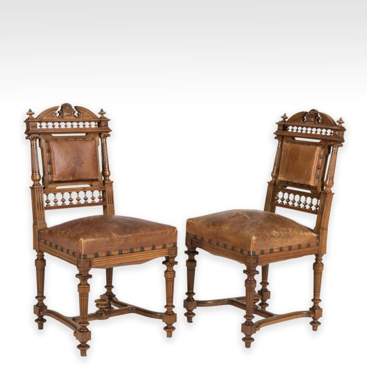 Set Fourteen Victorian Library Chairs