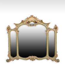 Three Section French Baroque Mirror