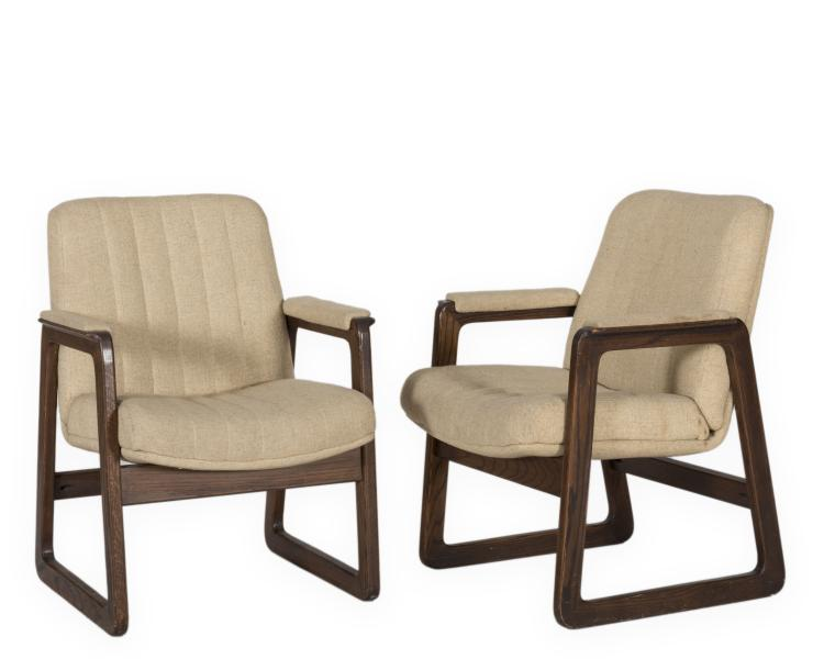 Pair Mid Century Office Chairs