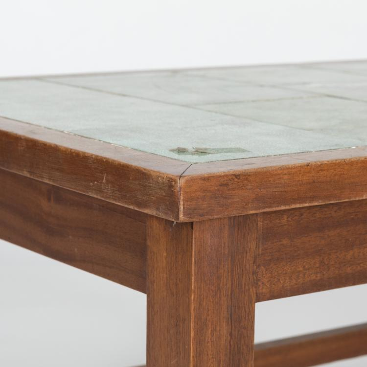 Decorated Tile Top Coffee Table