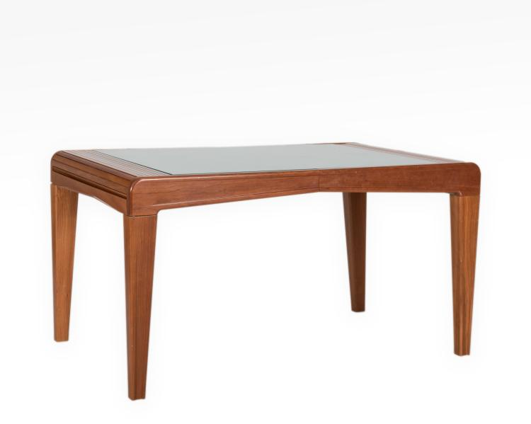 Modern cherry expandable dining room table for Cherry dining room table