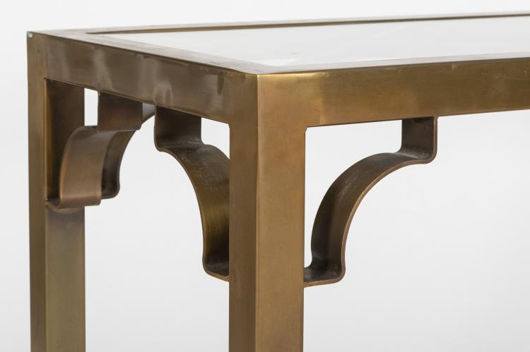 Brass And Glass Sofa Table