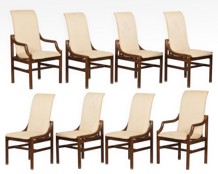 eight henredon dining chairs