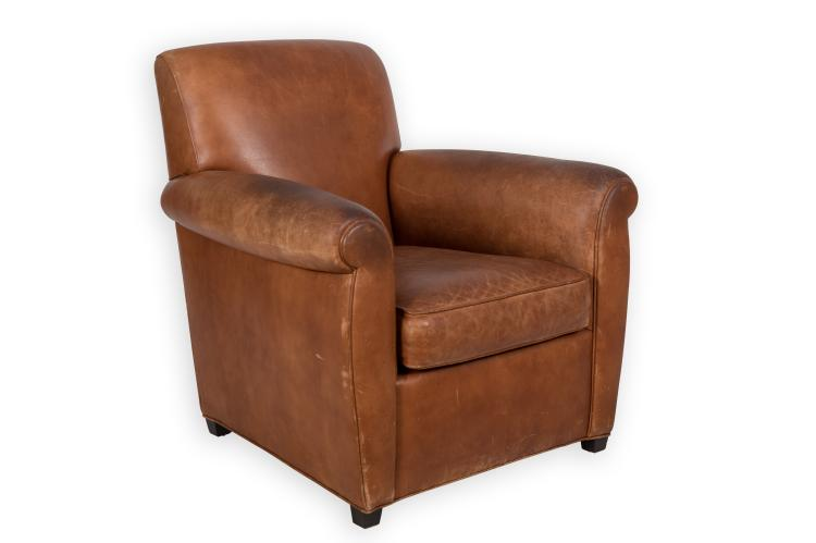 Coach for baker leather club chair for Coach furniture