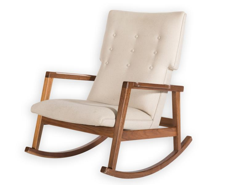 Jens Risom Dwr Rocker Lounge Chair