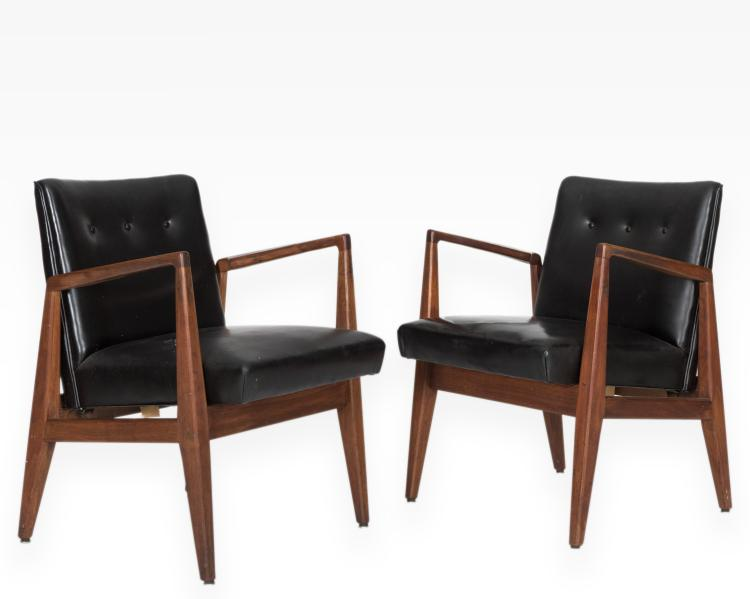 Pair jens risom lounge chairs for Furniture auctions uk
