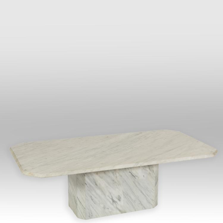 Mid Century Two Part Marble Coffee Table