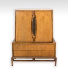Helen Hobey for Baker Furniture Walnut Chifferobe