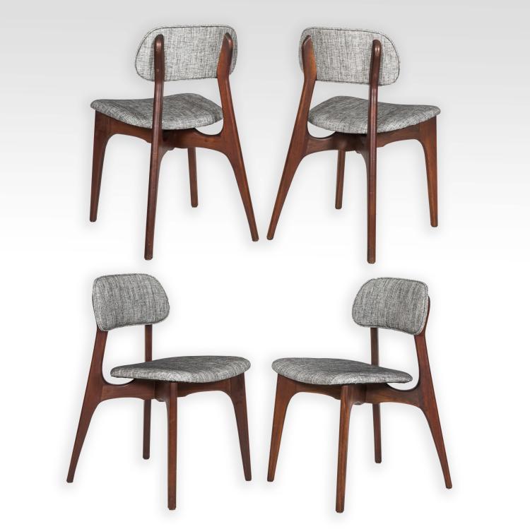 Set Of Four Danish Teak Kitchen Chairs