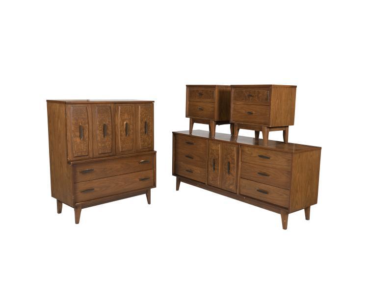 Four Piece Walnut Bedroom Set