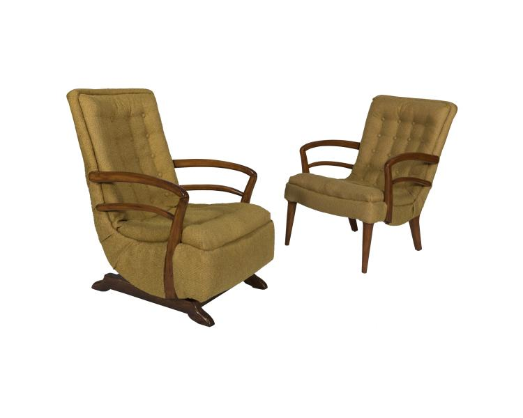 Tufted arm chair and matching rocker for Matching arm chairs