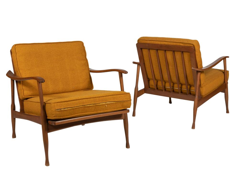 Paddle Arm Lounge Chairs - Pair