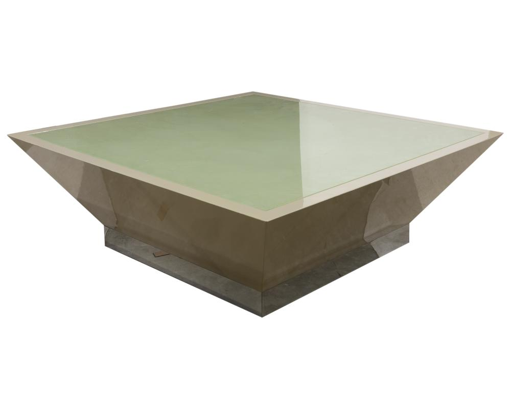 Directional - Glass Top Plinth Base Coffee Table