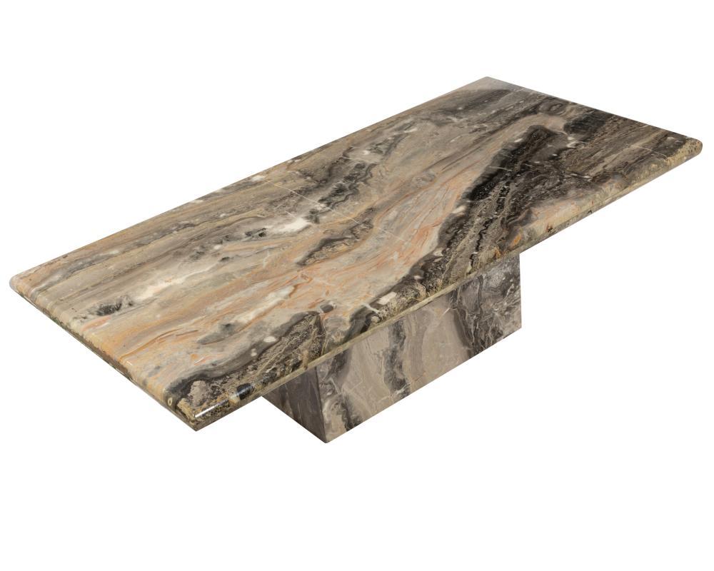 Italian Marble Plinth Base Coffee Table