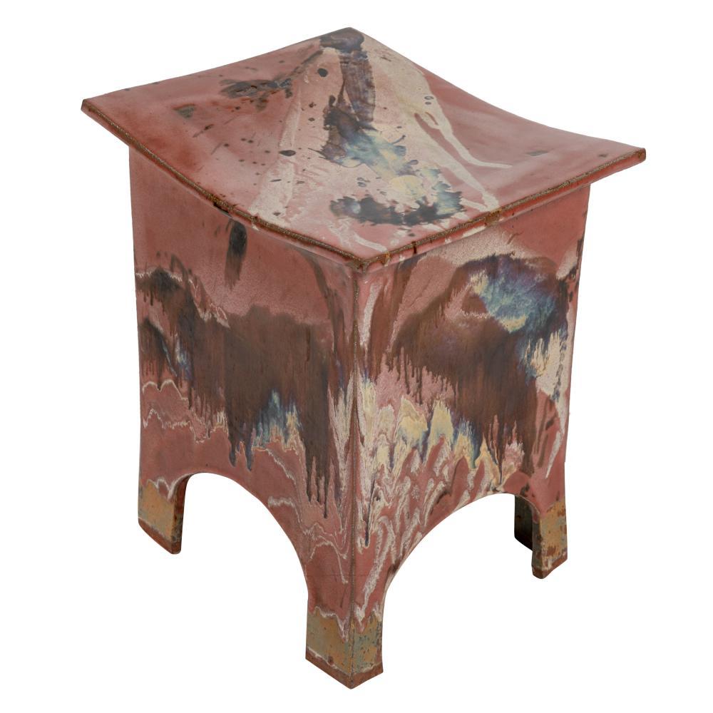 Glazed Pottery Stool