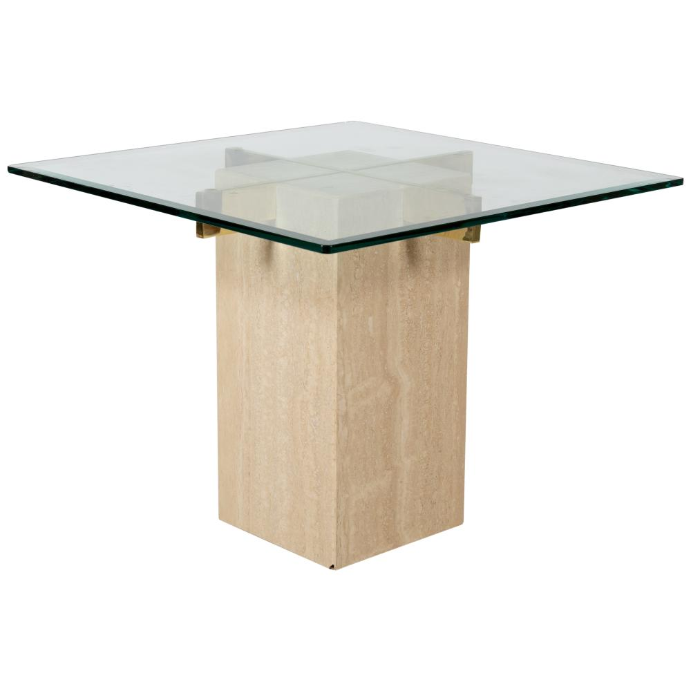 Artedi - Travertine & Glass Table