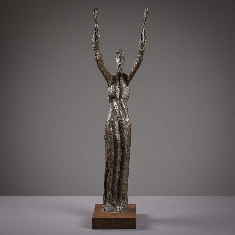 """Studio Made Bronze Figure - """"Hallelujah"""""""