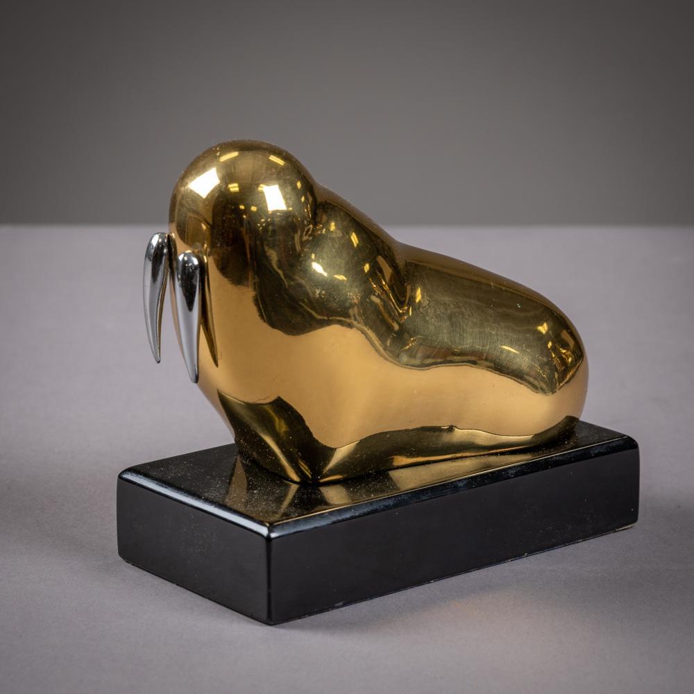 Modernist Brass Walrus - Numbered