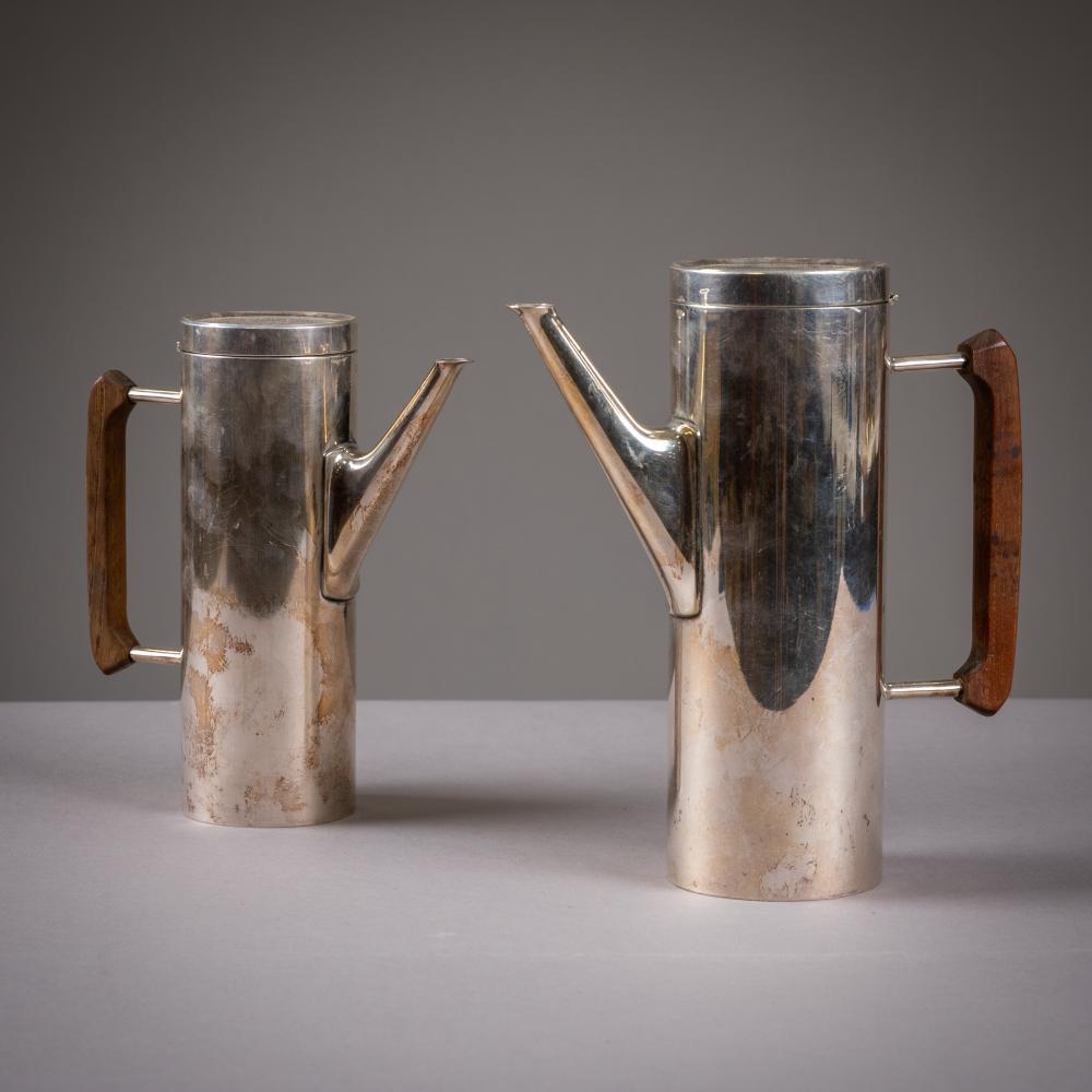 Mid Century Silver Plated Tea Pots