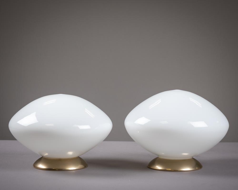 Italian Mushroom Lamps - Pair