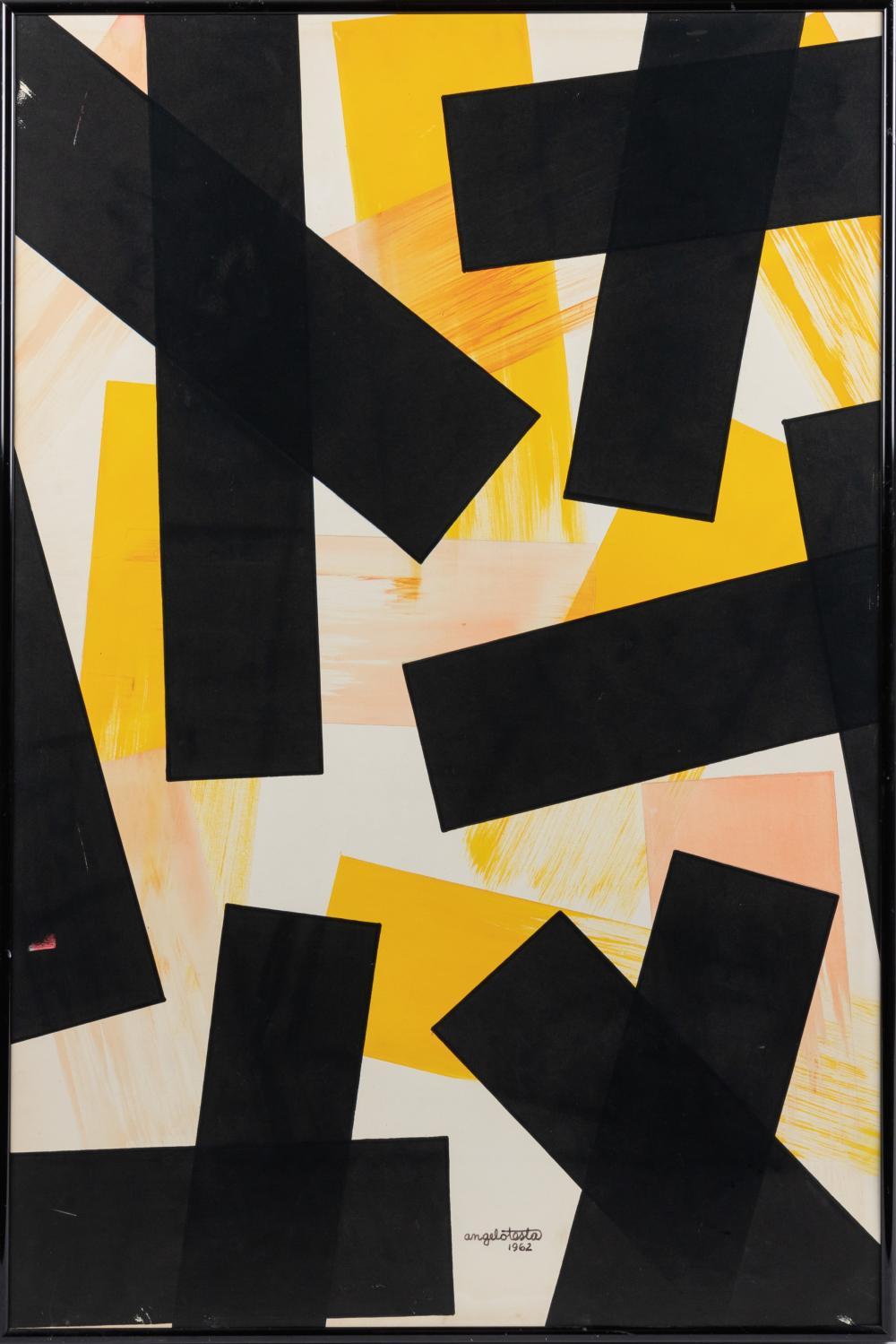 Angelo Testa - Watercolor on Board - 1962
