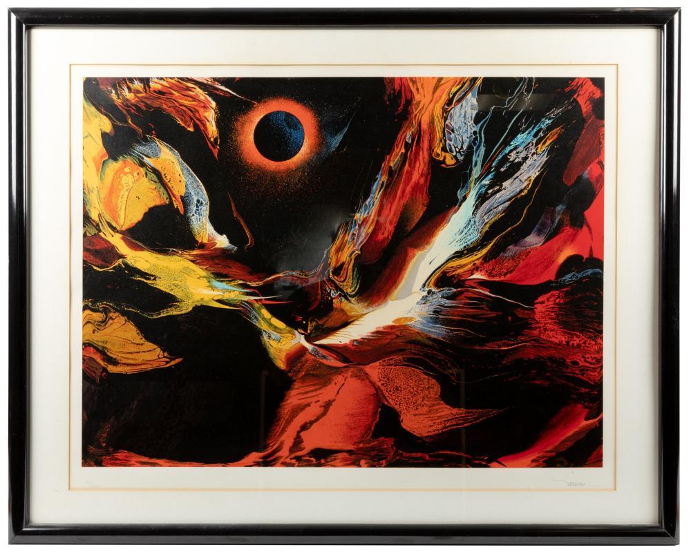 "Leonardo Nierman - Print - ""Poems of Fire"""