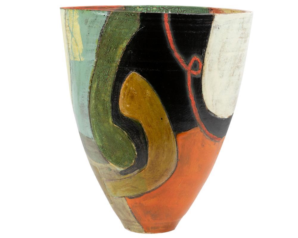 Gretchen Wachs - Glazed Clay - Floor Vase