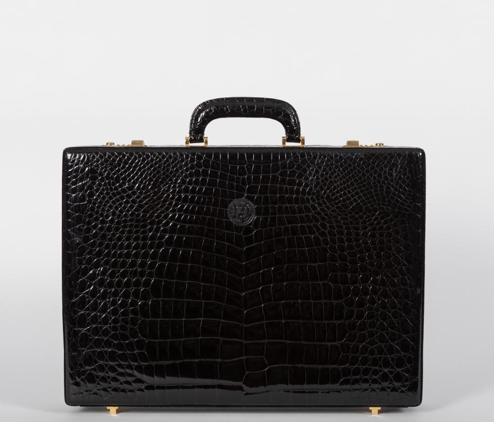 Fendi Nero Crocodile Briefcase
