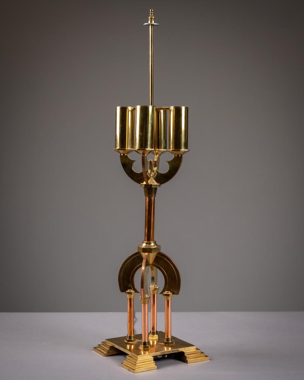Tommi Parzinger (Attr) - Brass & Copper Lamp