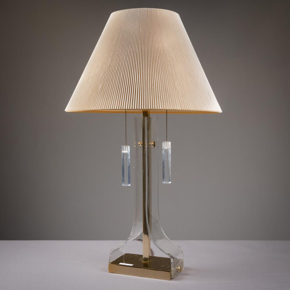 Laurel Lamp Company - Lucite & Brass Lamp