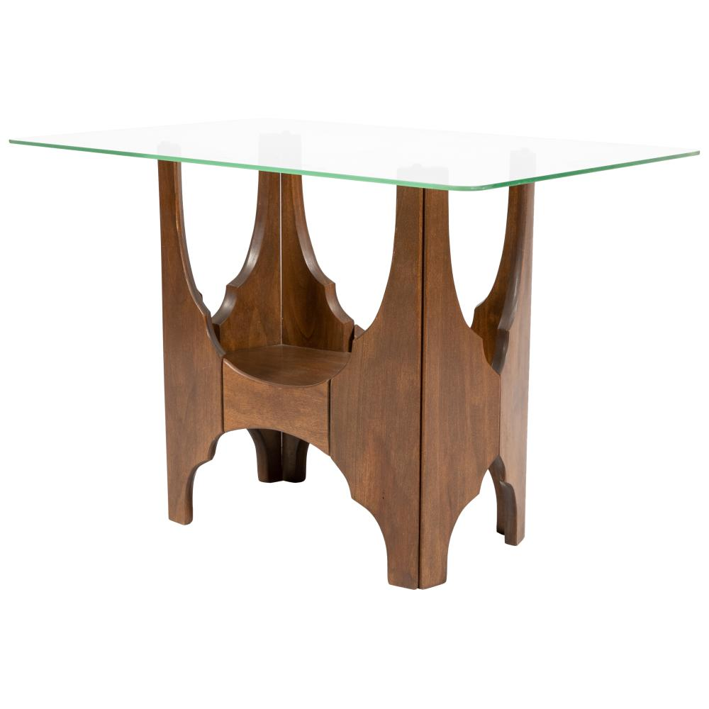 Harvey Probber - Glass & Walnut Table