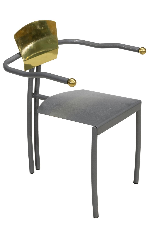 Memphis Style - Iron & Brass Arm Chair