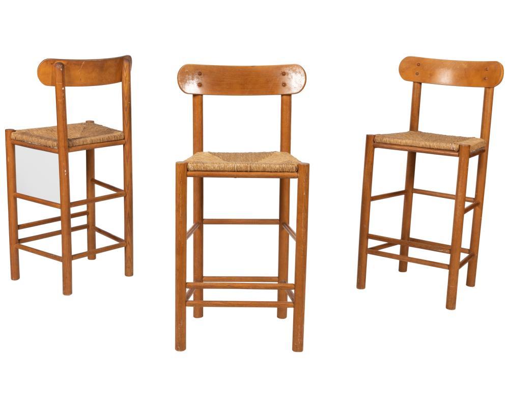 Danish Style Bar Stools - Three