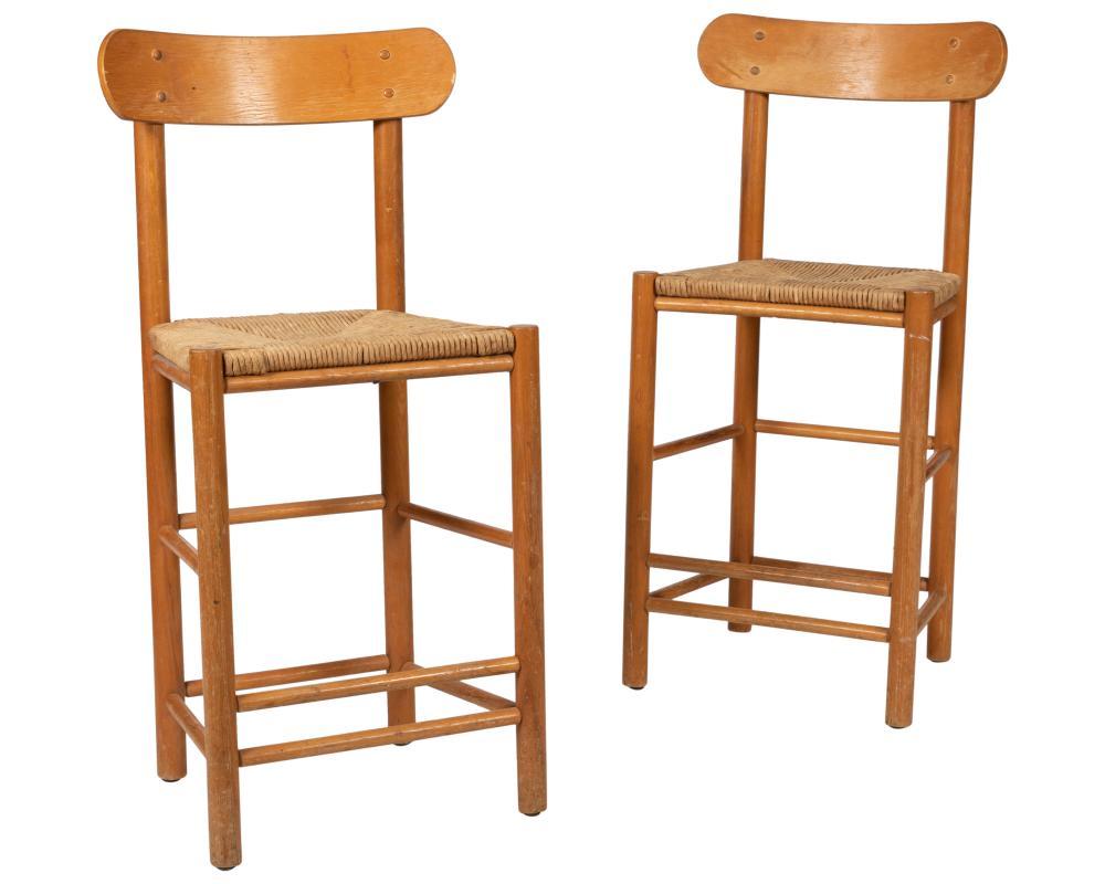 Danish Style Bar Stools - Two