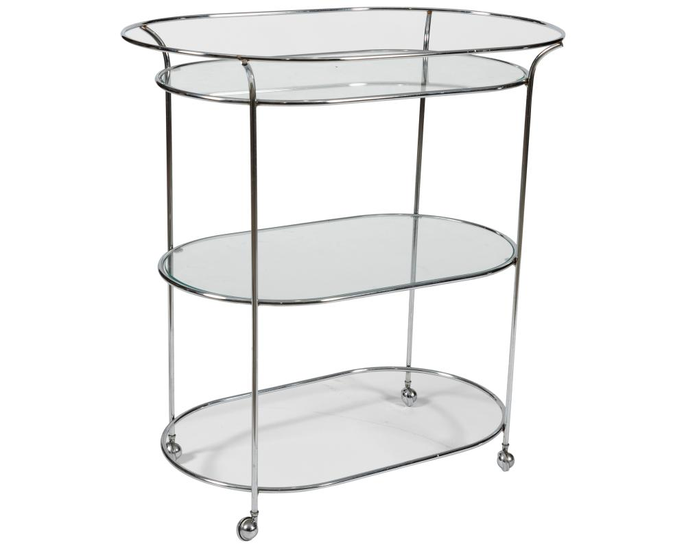 Glass & Chrome Serving Cart