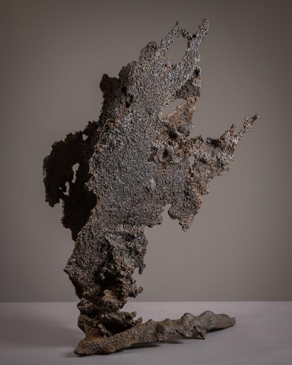 Brutalist Iron Sculpture