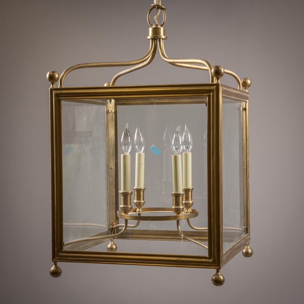 Contemporary Brass Candle Chandelier