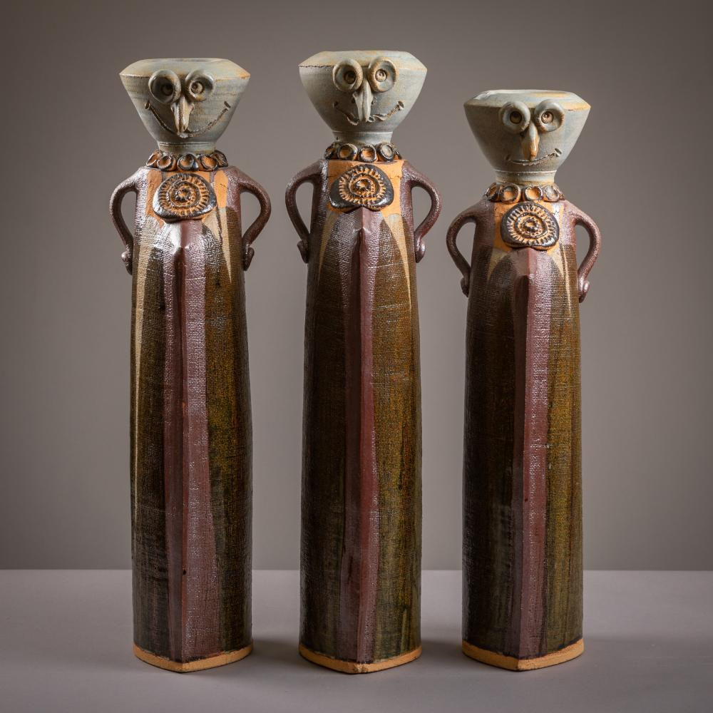 Abstract Figural Pottery Vessels