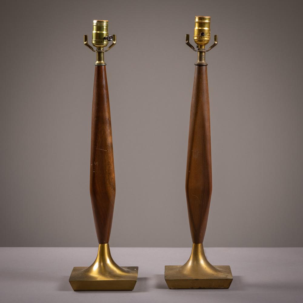 Walnut & Brass Lamps