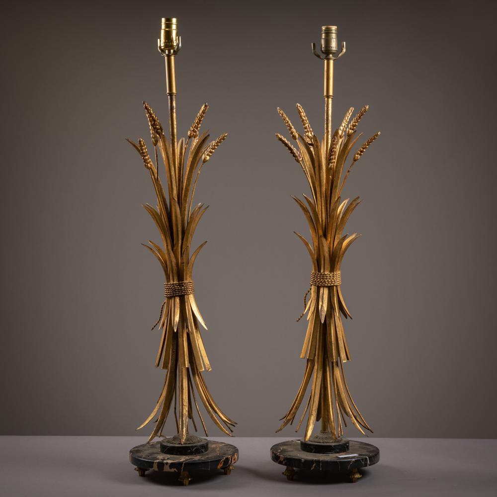 Gilt Iron Wheat Lamps