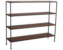 George Nelson Style Iron and Walnut Shelf
