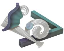 Abstract 80's Wall Sculpture