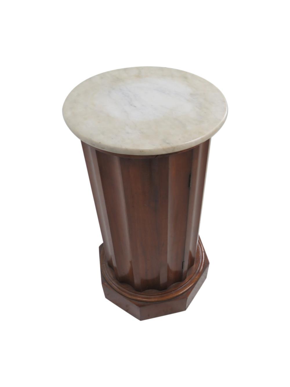 Marble Top Pedestal Cabinet