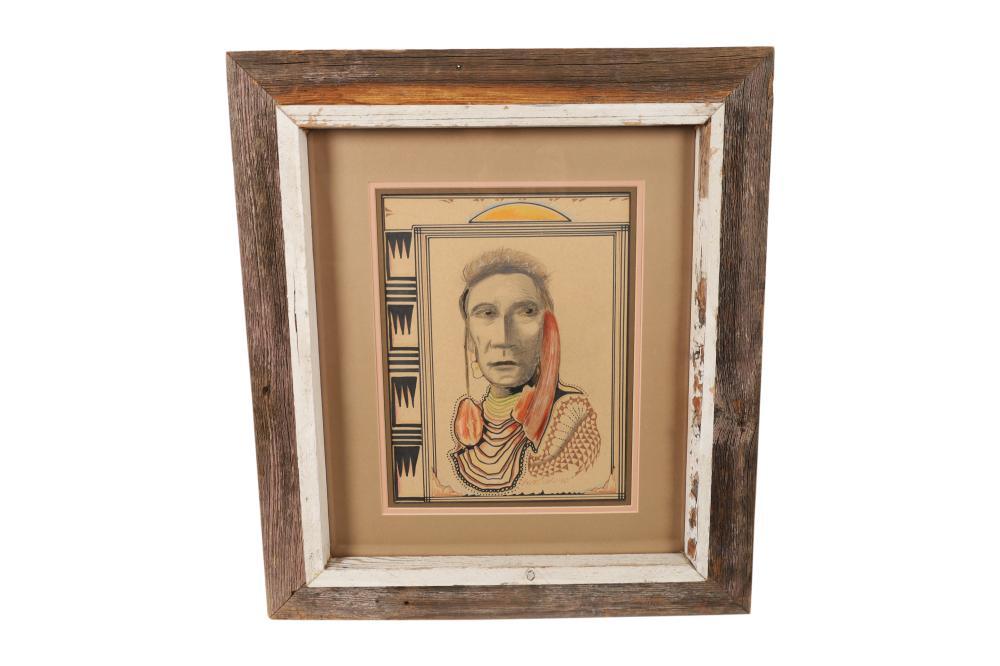 John Bear Curtis - Pencil and Ink Drawing