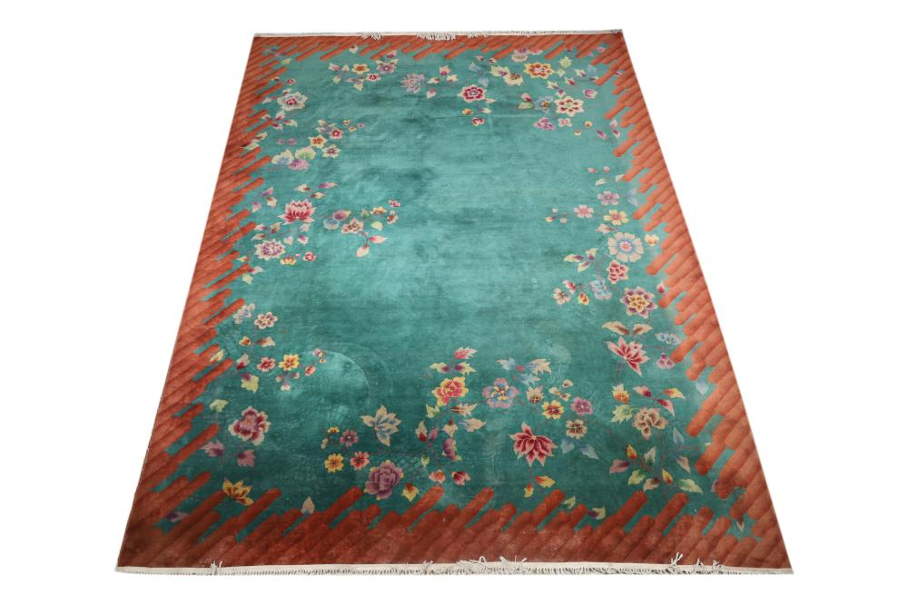 Room Size Art Deco Chinese Rug