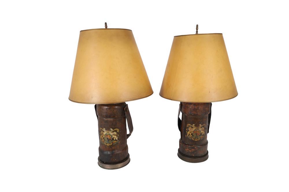 English Powedercase Lamps - Pair