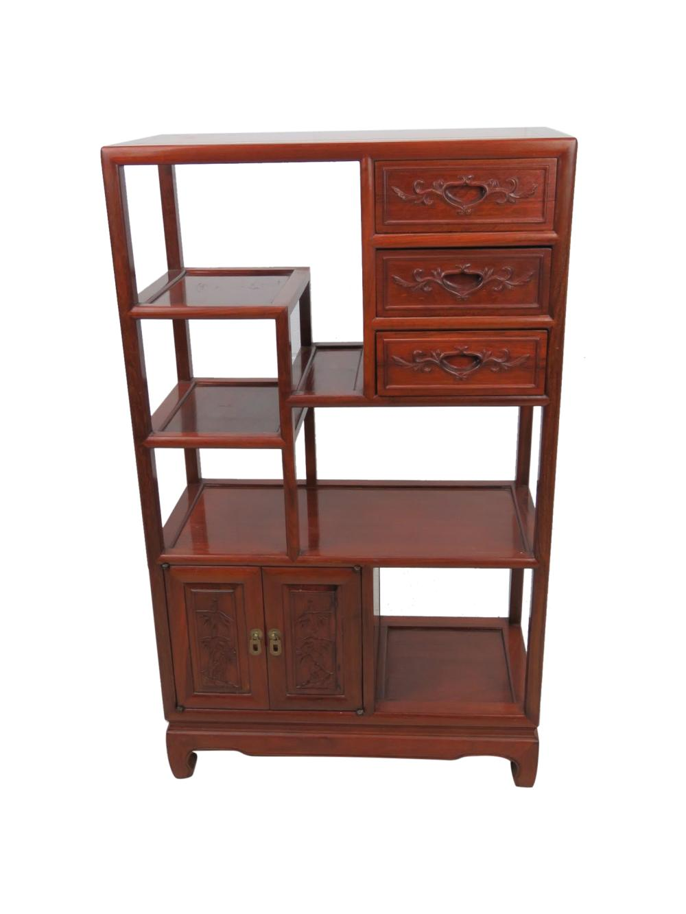 Chinese Rosewood Etagere